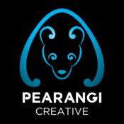 Pearangi Logo - blue and white