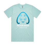 Blue and White Logo - Mens Classic Tee